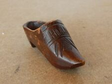Vintage Treen Miniature Dutch Clog Marked Holland 10cm long