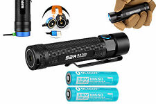 Olight S2R Baton 1020 Lumen Rechargeable LED Flashlight with Two 18650 Batteries