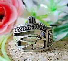 LOOK 1705 Egyptian Eye of Horus Ankh Ring Scarab beetle