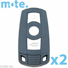 2 x BMW 3 Button Key Remote Case Shell Blank 3-5-7 SERIES X3 X5 Z4 E38 E39 M5 M3