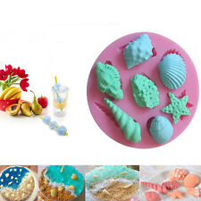 Sea Shells Star Fish Silicone Mould Cake Chocolate Ice Cake Decorating Mold