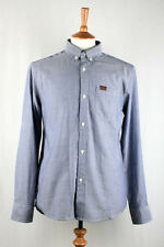 Marshall Artist - Button Down Oxford Shirt - Navy Dark Blue - S Small - RRP £65