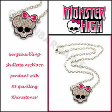 Monster High Skulette Girls Link Chain Rhinestones Bling Necklace Birthday Gift