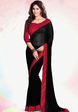 Bollywood Indian Wedding Ethnic Designer Wedding Saree Sari with Blouse