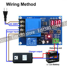 Universal 3.7 12V 24V Lithium Battery Charger Control Switch Charging Protection