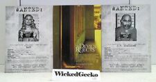 """Set of 3 The Devils Rejects 7"""" x 5"""" Lobby Cards - Wanted Baby Captain Spaulding"""