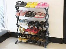 5 tier étagère à Chaussures métal support stockage organisateur titulaire contient 15 paires