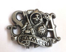 Sons of Anarchy Samcro belt buckle with pewter finish