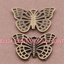 P497 12pcs Antique Bronze butterfly Pendant Bead Charms Accessories wholesale