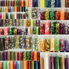 48 Pcs 3D Nail Art Set. Glitter Sequins Milers Rhinestones Beads Assorted Colors