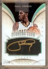 2013-14 IMMACULATE SCORERS CLUB PAUL GEORGE AUTO 17/49!!