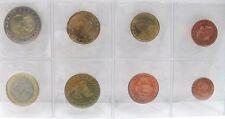 EURO MONACO 2001 SERIE DIVISIONALE UFFICIALE COMPLETA FDC-
