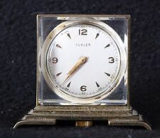 "Home Watch Co Swiss Turler Gold Vintage Wind Up Desk Mini Clock- 1.5"" x 1.75"""