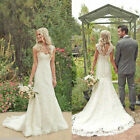 2015 New White/Ivory Wedding Dress Mermaid Bridal Gown Size:6 8 10 12 14 16