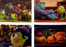 4 Disney Store Pixar Lithographs MONSTERS UNIVERSITY 2013 10X14 Lithos,Portfolio