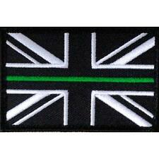 AMBULANCE UNION JACK PATCH / BADGE THIN GREEN LINE SEW ON PARAMEDIC DOCTOR