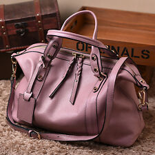 CELEBRITY STYLE Leather Women's Casual Messenger Briefcase Shopping Bag Tote