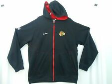 Chicago Blackhawks NHL Hoodie Jacket Reebok Center Ice Collection  2XL zip frt