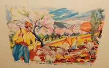 "GEORGES CYR ""LIFE IN THE FIELD"" OFFSET CATHOLIC PRESS BEIRUT LITHOGRAPH"