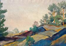 Fritz Frits Jacobsen *1914 Kopenhagen / Gemälde hügelige Landschaft / Mandemarke