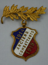 ANCIENNE BROCHE MEDAILLE MILITAIRE - ANCIENS COMBATTANTS 1914 1919