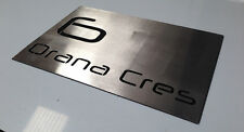 Stainless Steel House Sign Plaque large laser cut custom size and fonts