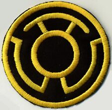 "5"" Yellow Lantern Corps Classic Style Variant Patch on Black Fabric"