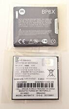 Qty 2 pcs New Motorola BP6X Battery SNN5898A, Cliq, Droid 2, Milestone, i1, A855