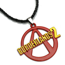Hot PS3 Game Borderlands 2 Logo Fashion Alloy Red Pendant Necklace