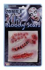 Fake Gory Wounds Zombie Monster Bloody Stick Make Up Scars Halloween Fancy Dress