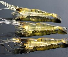10Pcs Lure Bait Shrimp Fishing Simulation Prawn Saltwater Hooks Realistic
