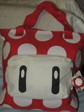 SUPER MARIO MUSHROOM TOTE BAG PURSE NEW!