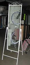 Standspiegel in Weiß Vintage Metall Spiegel schwenkbar NEU/OVP