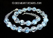 m/w Swarovski Crystal Vintage RARE Givre Blue Beads Necklace Lilli Heart Designs