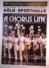 A CHORUS LINE Musical 1986 - Tourneeplakat DIN A0