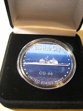 US NAVY - USS HUE CITY / CG-66 Commemorative Challenge Coin with Gift Box