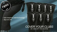 Golf Hybrid Head Covers Complete 2 3 4 5 6 7 8 Set Thick Club Black Headcover