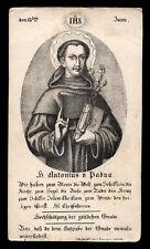 santino incisione 1800 S.ANTONIO DA PADOVA