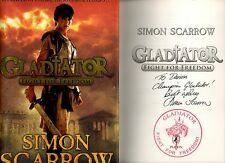 SIGNED SIMON SCARROW GLADIATOR FIGHT FOR FREEDOM FIRST EDITION HB U/C DJ 2011