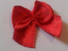 Red Ribbon bows Satin 10mm  Xmas crafts cards decoration wreaths  x 30