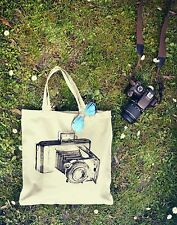 New Canvas Eco Vintage Hipster RETRO CAMERA Cotton Tumblr Shopping Tote Bag