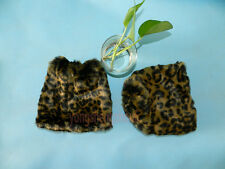 Boot Cuff Fluffy Soft Furry Faux Fur Leg Warmers Boot Toppers Leopard grain 20cm
