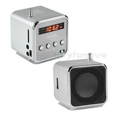 3.5mm Mini LCD Enceinte Haut Parleur Speaker USB Micro SD/TF Carte Radio FM MP3