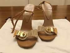 FENDI Canvas/Leather Sandals Size 35 UK 2