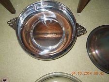 vintage silver plated serving dish/LARGE/with lid/beautiful