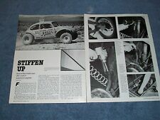 Vintage How To Tech Info Article on Installing Sway-A-Way VW Torsion Bars