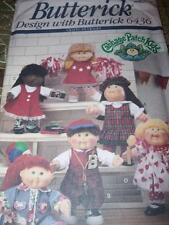 "BUTTERICK #6436 - CUTE 16"" CABBAGE PATCH KIDS CLOTHING - WARDROBE PATTERN  OZ uc"
