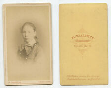 CDV STUDIO PORTRAIT YOUNG LADY FROM DUSSELDORF BY HAARSTICK