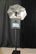 """PORTABLE PHOTO BOOTH - SHELL ONLY - """" X-1 Version 2"""" with tilting camera -black"""