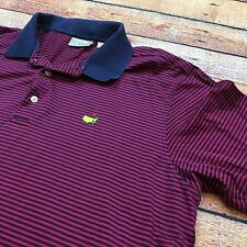VTG AUGUSTA NATIONAL GOLF CLUB STRIPED Polo XL Mercerized Shirt Red Blue Logo